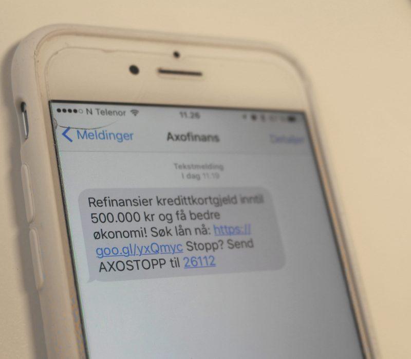 Axo Finans vil rydde opp i spam-markedsføring